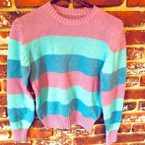 Sweaters - Pastel Stripes Sweater 😍 Size S/M